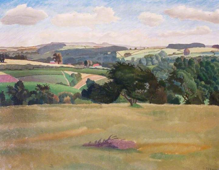 Spencer, Gilbert, 1892-1979; Oxfordshire Landscape