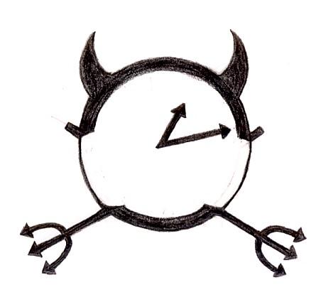 18 evil clock