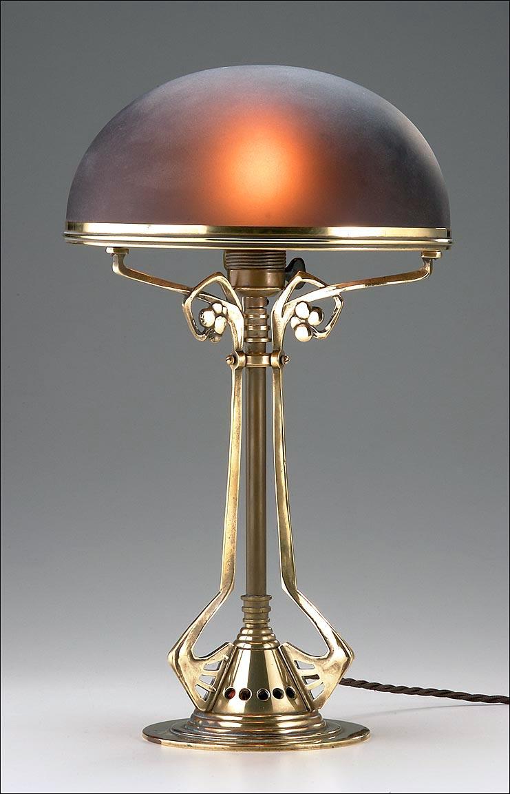 German_Jugendstil_Table_Lamp