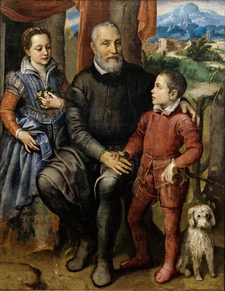 Sofonisba_Anguissola,_Portrætgruppe_med_kunstnerens_fader_Amilcare_Anguissola_og_hendes_søskende_Minerva_og_Astrubale,_ca._1559,_0001NMK,_Nivaagaards_Malerisamling