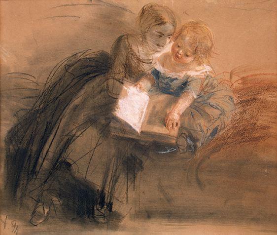 schets moeder en kind