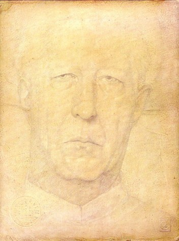 Victor Koulbak. Portrait of an Old Man. 1994. Silverpoint - watercolor. 12 3/4 x 10 in.