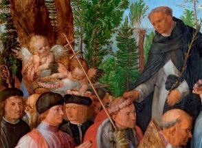 detail DÜRER-Albrecht-Dürer-Rozenkransfeest-Národní-galerie-v-Praze-Praag