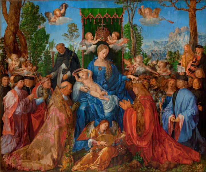 DÜRER-Albrecht-Dürer-Rozenkransfeest-Národní-galerie-v-Praze-Praag
