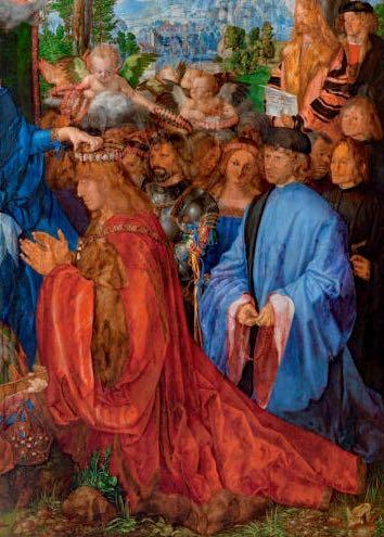 keizer DÜRER-Albrecht-Dürer-Rozenkransfeest-Národní-galerie-v-Praze-Praag
