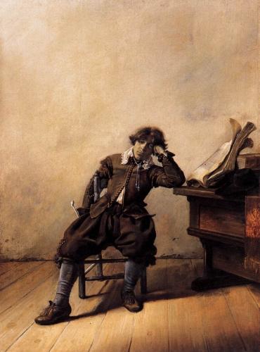 Student_at_His_Desk_-_Melancholy_(1633)_by_Pieter_Codde.jpg