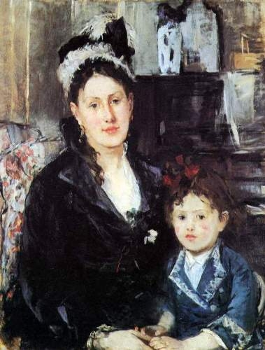 Morisot - Portrait of Mme Boursier and Daughter.jpg