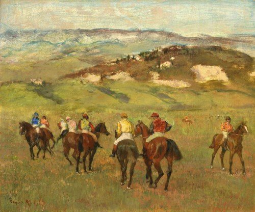 jockeys-on-horseback-before-distant-hills-edgar-degas