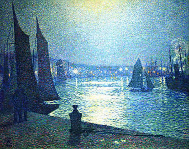 Theo-Van-Rysselberghe-Moonlight-Night-in-Boulogne