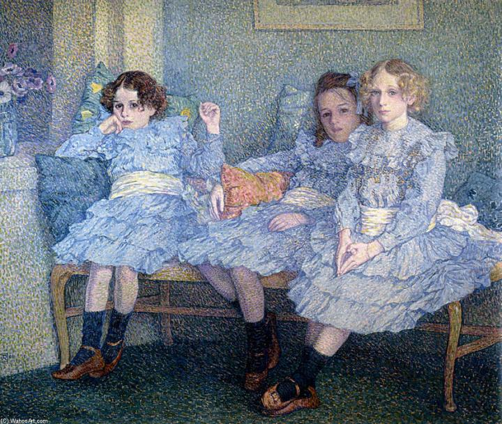 Theo-Van-Rysselberghe-Three-Children-in-Blue