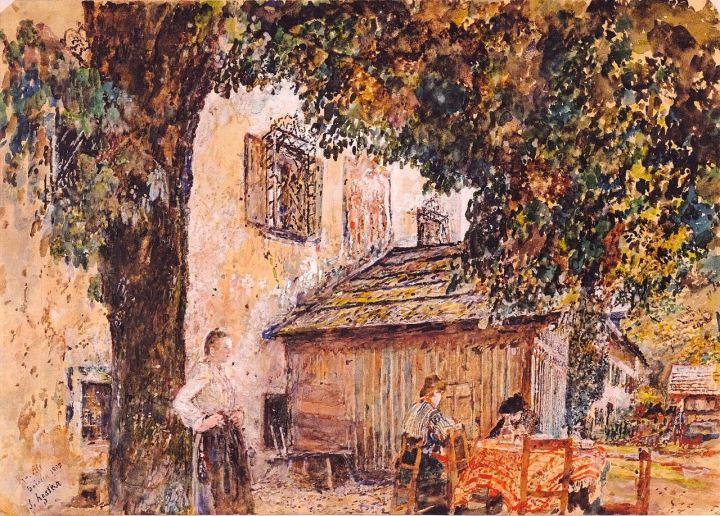 1280px-Rudolf_von_Alt_-_Motiv_aus_Goisern_-_1903