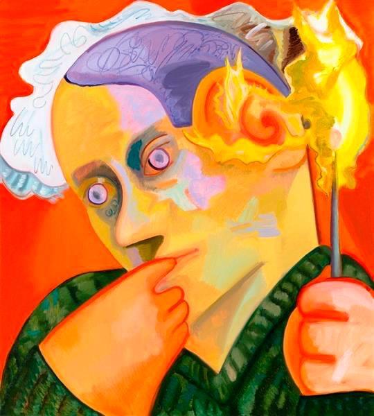 dana schuts ear on fire