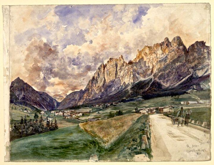 Die Pomagagnonwände mit Cortina d'Ampezzo