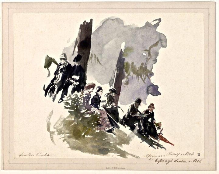 Ein Ausflug der Familie Dumba in der Sommerfrische in Liezen