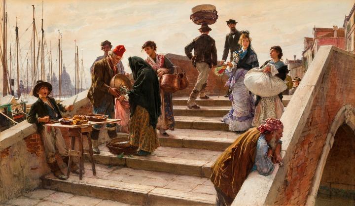 Passini_Ludwig_-_Eine_Brücke_in_Venedig