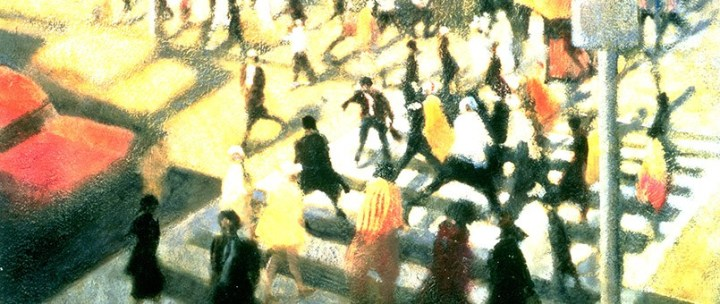 Towards the Light Times Square, 1998 (oil on canvas)