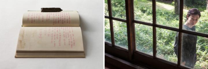 dagboek achter venst