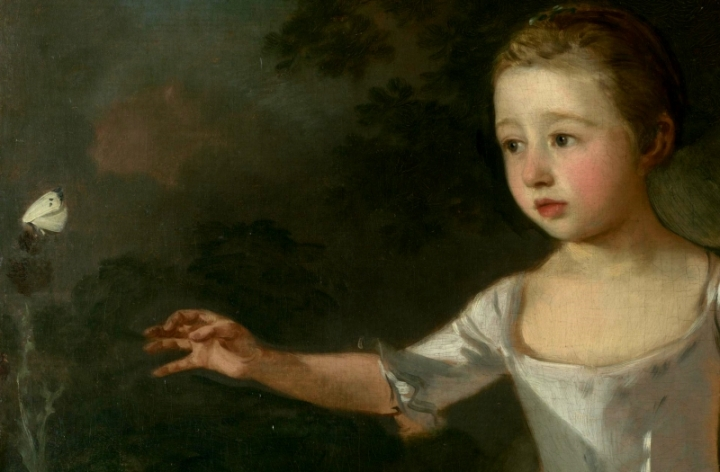 Gainsborough-The-Painters-Daughters-chasing-a-Butterfly-1756-detail