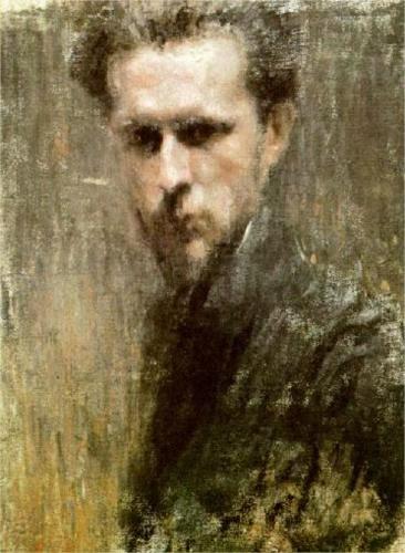 Dobuzhinsky Mstislav self-portrait 1910