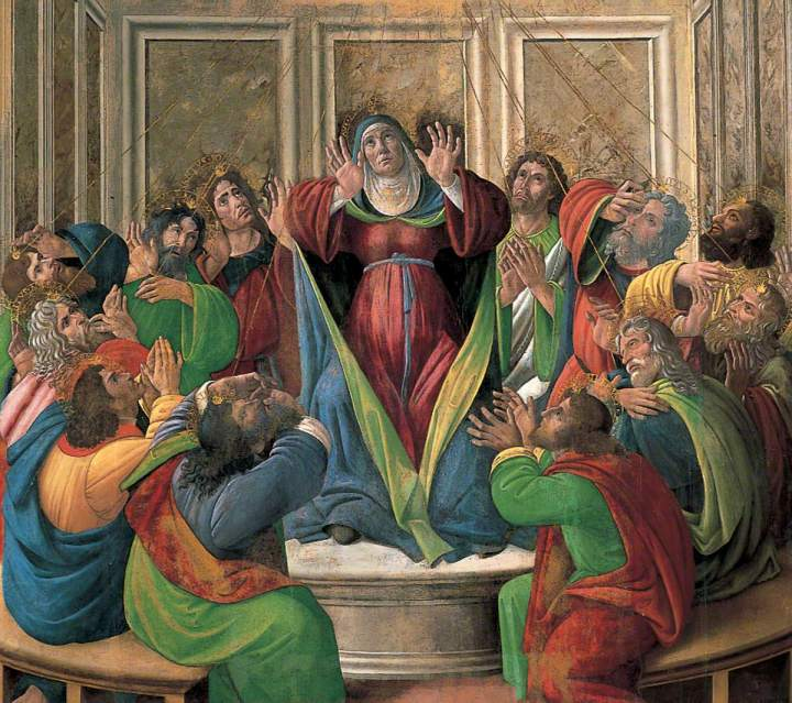 Botticelli, Sandro, 1444/1445-1510; The Descent of the Holy Ghost