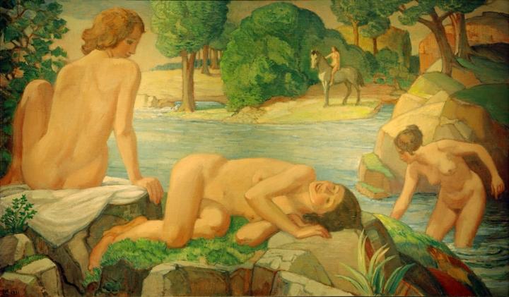 L. v. Hofmann, Sommer (Frauen am Teich)