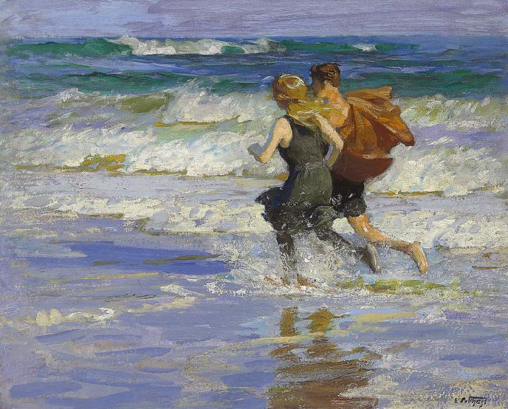1-at-the-beach-edward-henry-potthast