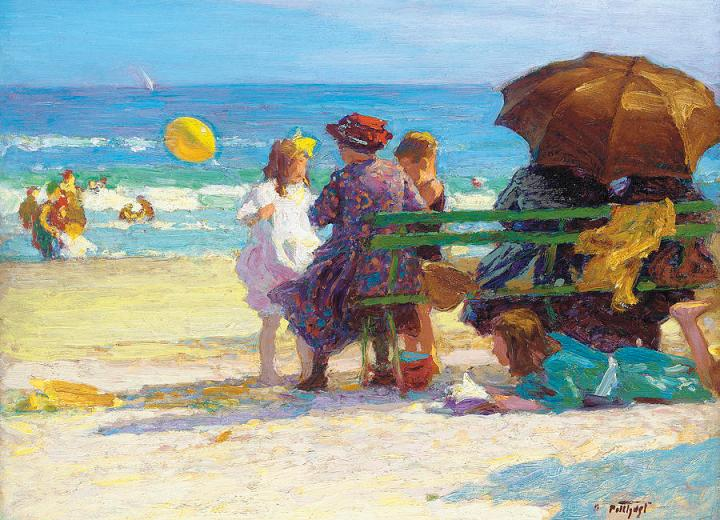 a-family-outing-edward-henry-potthast