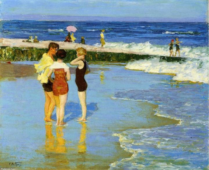Edward-Henry-Potthast-At-Rockaway-Beach