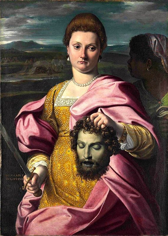 portrait-of-olimpia-luna-and-melchiorre-zoppio-as-judith-and-holofernes-agostino-carracci-