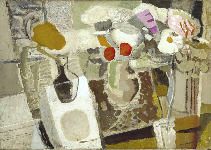 Autumn Composition, Flowers on a Table 1932 by Ivon Hitchens 1893-1979