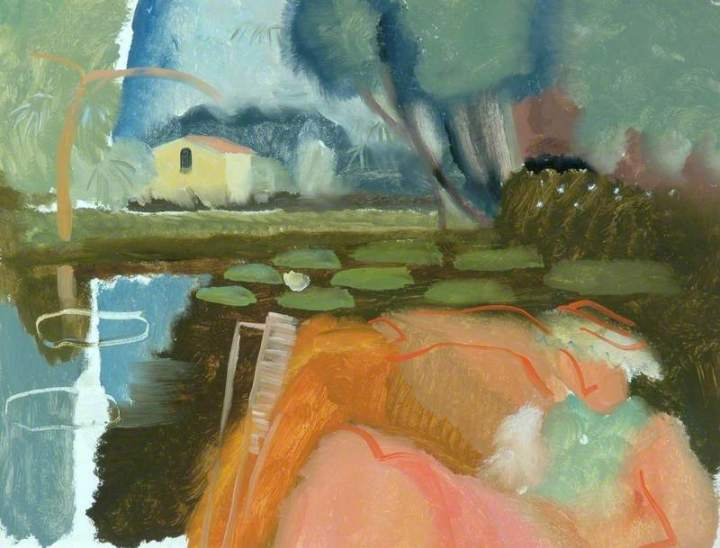 Hitchens, Ivon, 1893-1979; River Scene at Holbrook and Molly in a Boat
