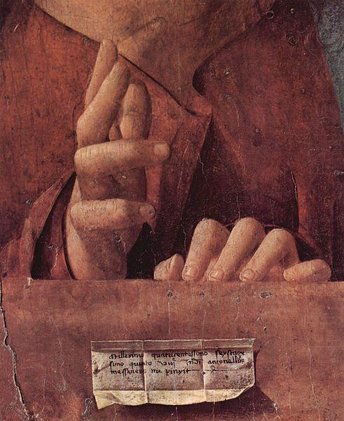 Antonello da Messina-detail prentje