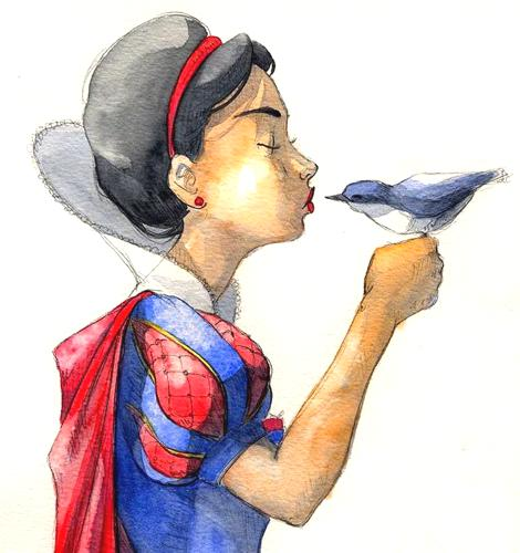 snow_white_and_the_little_bird_by_mariliazo_d8lel47-pre