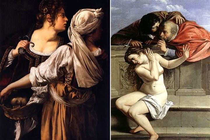 Left-Judith-and-Her-Maidservant-1614-20-Galleria-Palatina-Palazzo-Pitti-Florence-Right-Susanna-and-the-Elders-1610-Schloss-Weissenstein-Pommersfelden