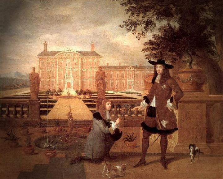 Royal_Gardener_John_Rose_and_King_Charles_II_-_Hendrick_Danckerts_1675