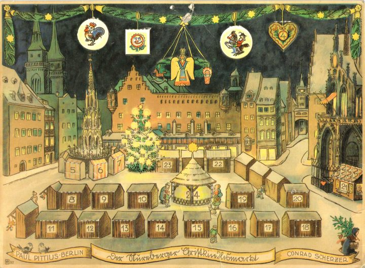 Nürnberger-Christkindlesmarkt-Paul-Pittius-Berlin-um-19301