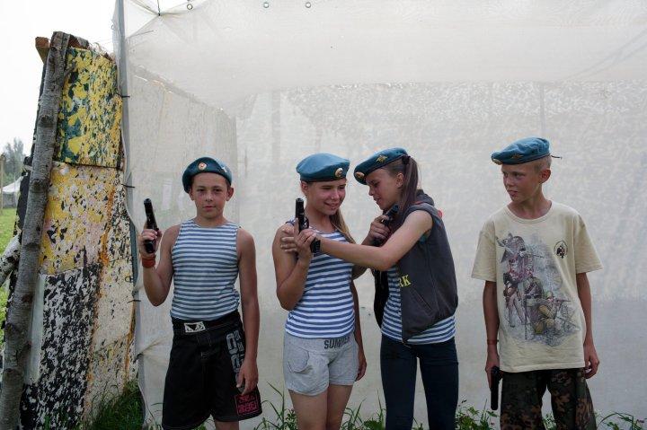 The Historical War Camp in Borodino, Russia.